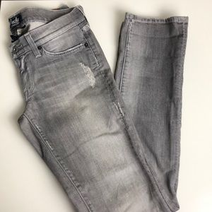 Lucky Brand Gray Distressed Jeans Size 26